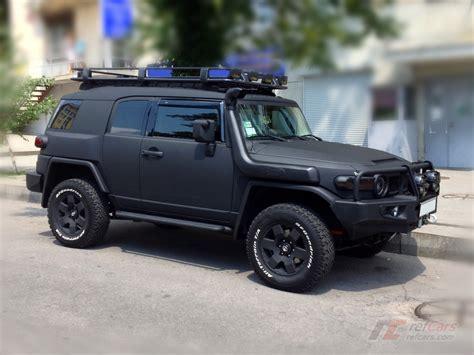 toyota cruiser black refcars matte black tuning toyota fj cruiser