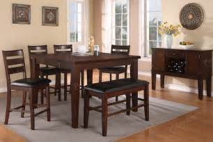 high dining room table set high bench counter height chairs dining room furniture showroom categories poundex