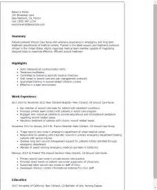 Wound Ostomy Continence Sle Resume by Doc 500708 Resumes For Nurses Template Nursing Cv