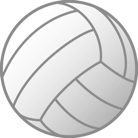 printable volleyball clipart simple white volleyball free clip art