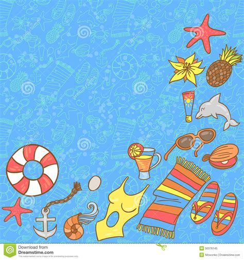 background pattern beach summer beach pattern background stock image