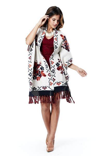 Pasmina Sofia Flower lovestitch sofia floral print shawl sweater lovestitch