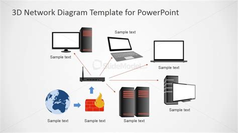 powerpoint network diagram template powerpoint clipart network diagrams appliances slidemodel