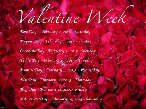 when is valentines day week 2015 dates when is day day