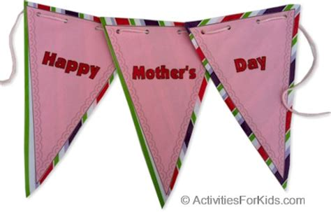 printable children s day banner happy mother s day banner