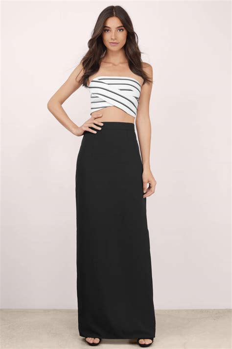 Black Maxi bottoms for rompers skirts jumpsuits tobi