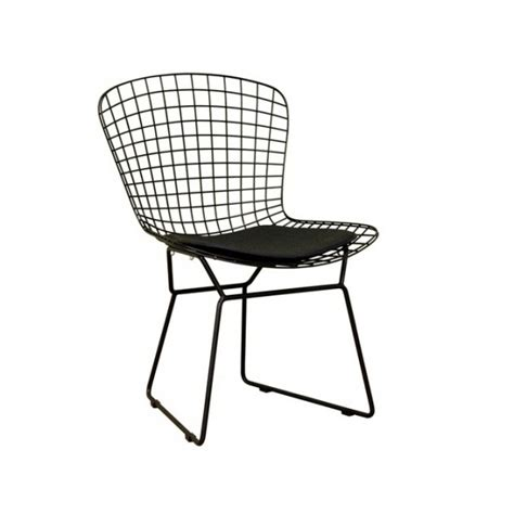 Wire Dining Chair Black Bertoia Wire Dining Chair Maxwell Furniture