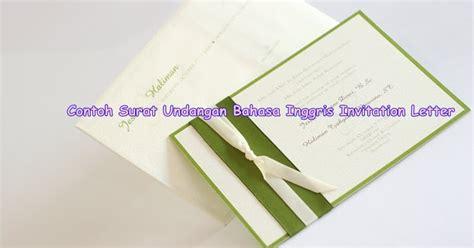 belajar bahasa inggris contoh surat undangan