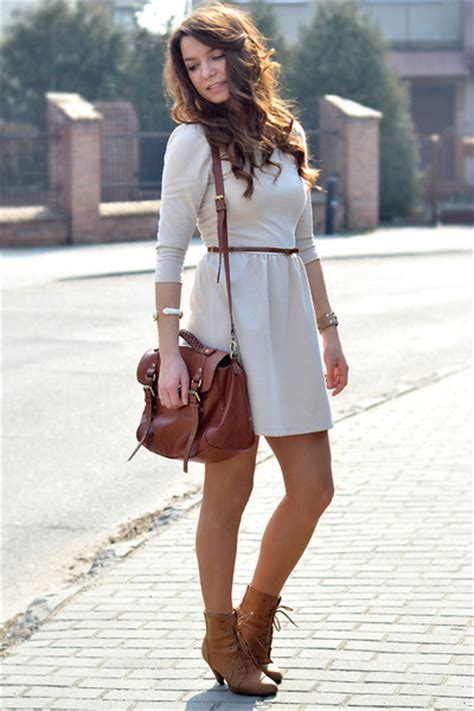 brown h m bags new yorker boots ivory stradivarius