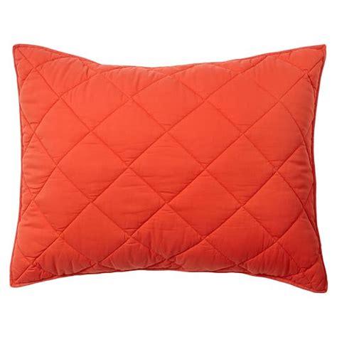 Solid Orange Quilt by Finley Solid Quilt Sham Orange Pbteen