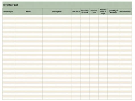 retail store inventory template retail inventory checklist retail inventory