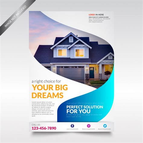 property flyer template free real estate flyer template vector premium
