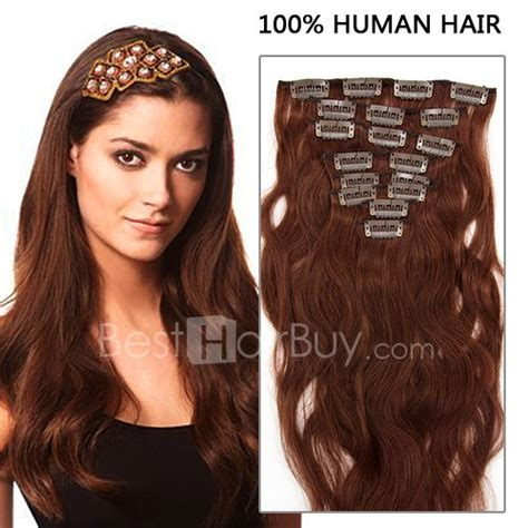 18 inch wavy hair extensions 18 inch 8pcs wavy clip in remy hair extensions