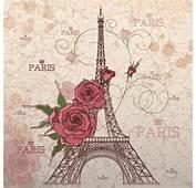 Vintage Eiffel Tower Design Background 02  Vector