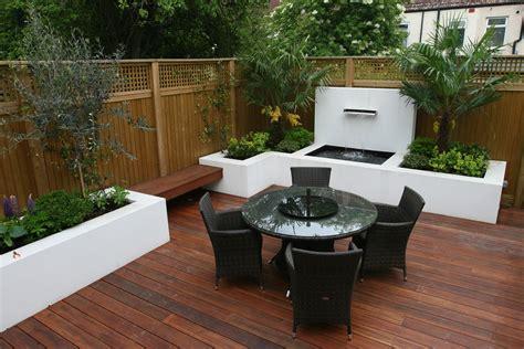decking design london elegant walled outdoor entertaining space wimble