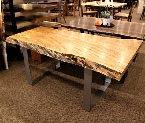 live edge slab table wormy maple live edge slab table solid hardwood furniture