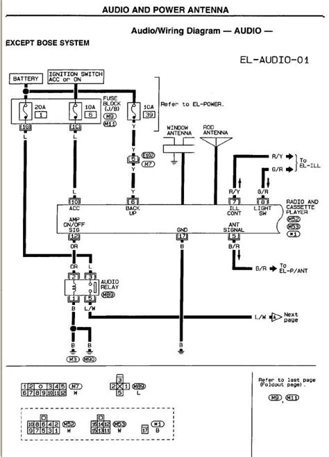 1998 nissan frontier stereo wiring diagram 42 wiring