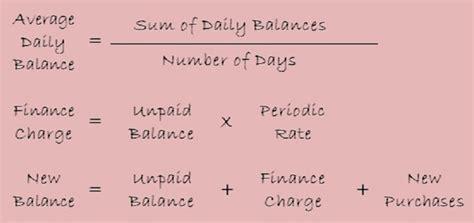 Credit Formula Math 7 3 Finance Charge Average Daily Balance Method Ehs Business Math