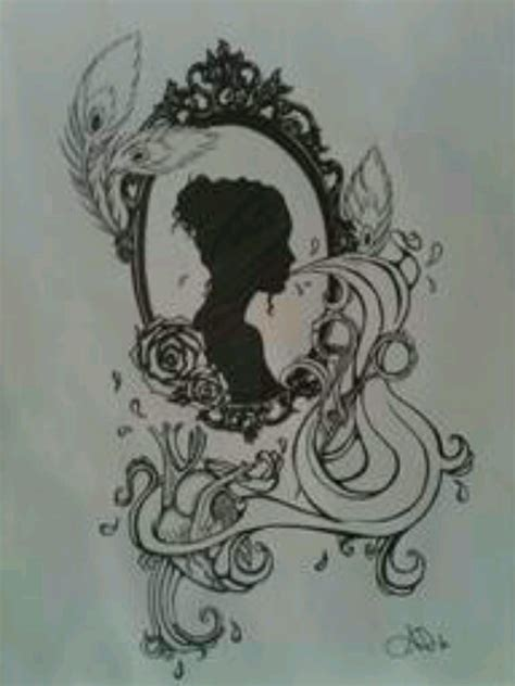 simple victorian tattoo cameo tattoo drawing www imgkid com the image kid has it