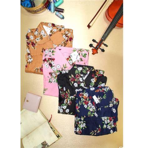 Blouse Jumbo Bunga kemeja jumbo floral floral blouse atasan wanita motif