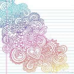 Girly notebook doodles notebook doodles royalty