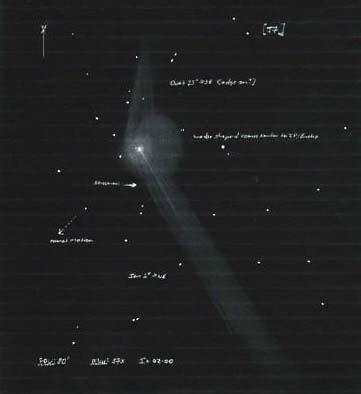 sketchbook q2 my comet machholz observations