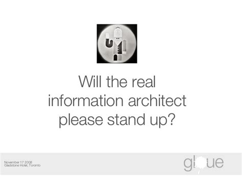Will The Real Iphone Stand Up by Will The Real Information Architect Stand Up