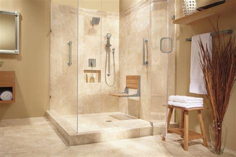 teak shower seat Bathroom Contemporary with custom vanity