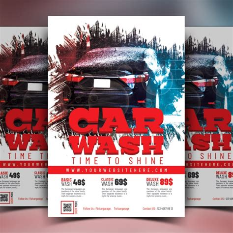 car wash flyer template car wash flyer template template for free on pngtree
