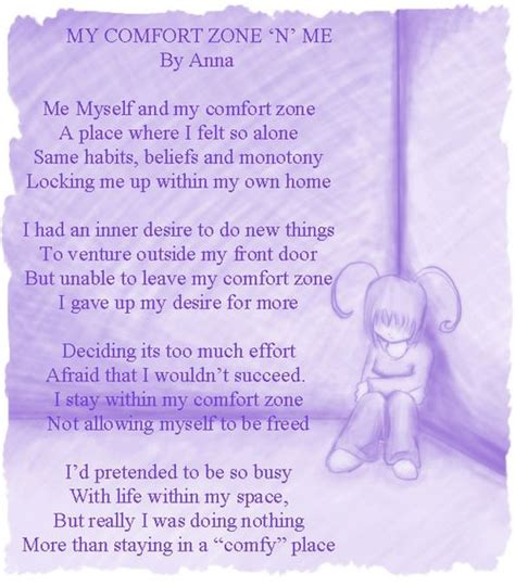 my comfort my comfort zone a poem by anna travers all poetry