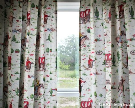cowboys curtains cowboy bedding and how to make lined curtains domestic