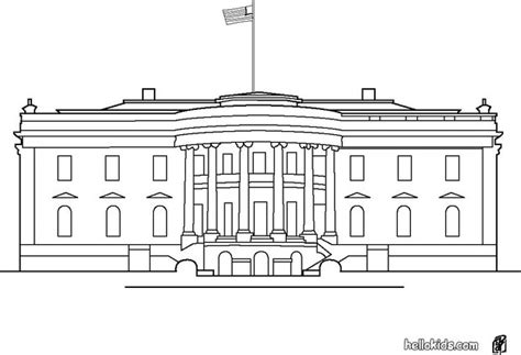 how to draw the white house white house coloring pages hellokids com