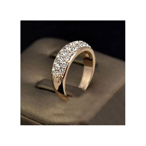 exquisite austrian rhinestone inlaid simple style 18k