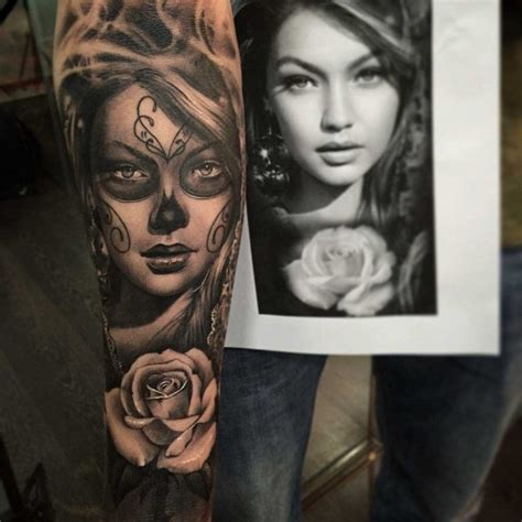 portrait sleeve tattoo designs chicano portrait sleeve best ideas gallery