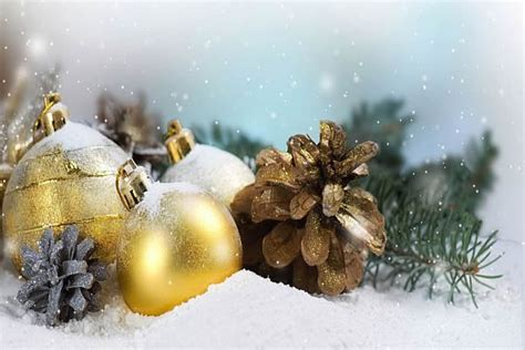 yellow christmas decorations