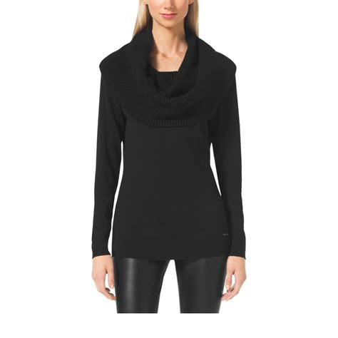 Fit Neck Sweater black cowl neck sweater fit jacket