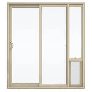 Vinyl Patio Doors Shop Jeld Wen V 2500 71 5 In 1 Lite Glass Almond Vinyl Sliding Patio Door With Screen At Lowes