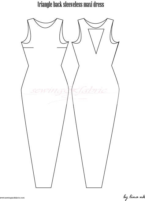 free pattern for sewing sewing pattern the triangle cutout back maxi dress