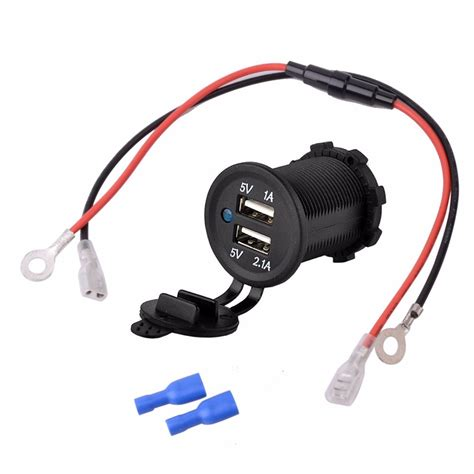 Adaptor Charger Mobil Saver Car Charger 3in1 3 Output 51 A dc 12 24v 3 1a diy waterproof dual usb car charger adapter car usb charger with blue light 25cm