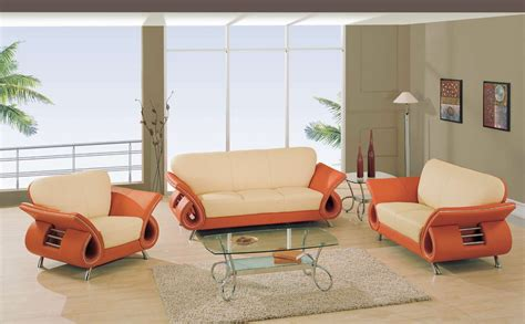 Orange Living Room Furniture | global furniture usa 559 living room collection beige