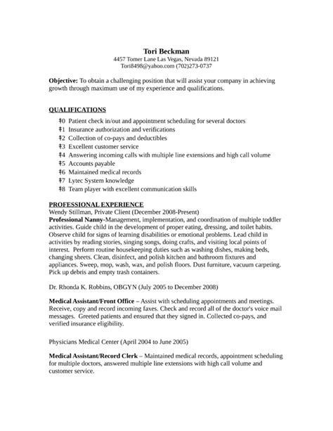 Sle Resume For Records Assistant Resume For Records Clerk 100 Images Records Clerk