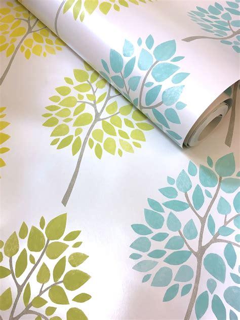 green wallpaper decor fine decor riva floral trees in yellow fd41592