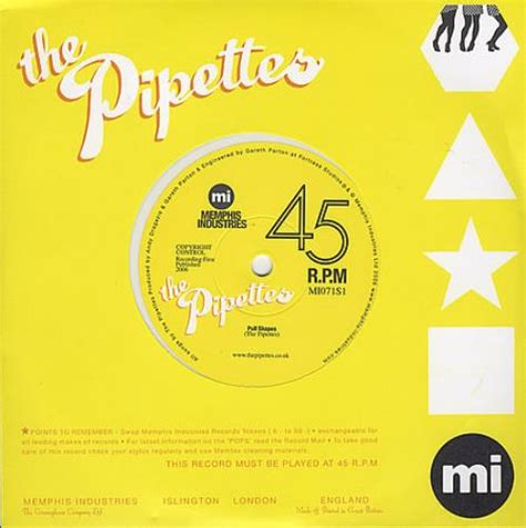 The Pipettes Their Pull Shapes by The Pipettes Pull Shapes White Vinyl Uk 7 Quot Vinyl Single
