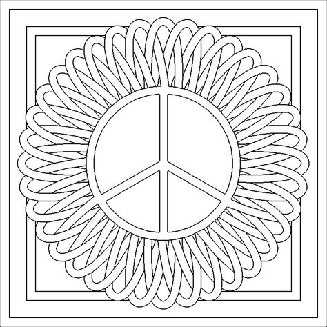 Free Coloring Pages Of Flower Patterns Coloring Pages Patterns