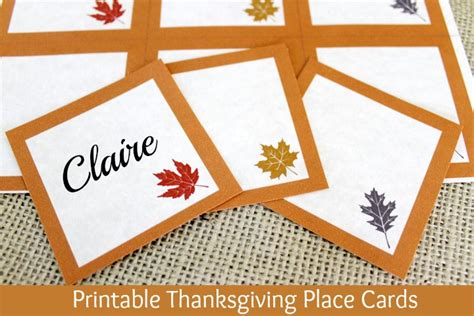thanksgiving place setting cards template 12 diy thanksgiving center pieces