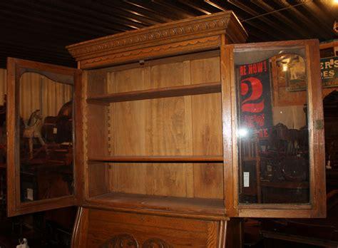 antique drop front desk with bookcase bargain s antiques 187 archive antique oak drop