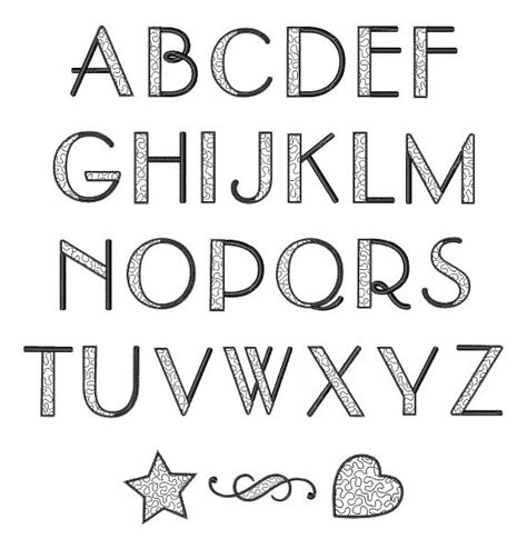 alphabet letters to print font alphabet 3 tattoos fonts 1073