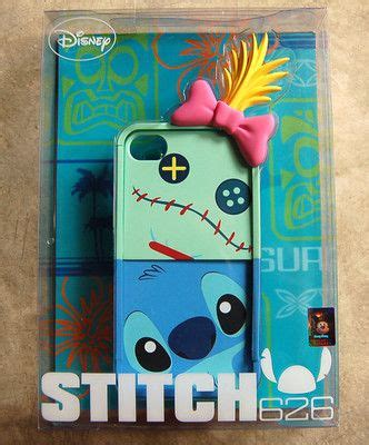 Disney Lilo Stitch Experiment Iphone 4 4s 5 5s 5c 6 6s 7 Plus lilo stitch scrump with earphone original walt