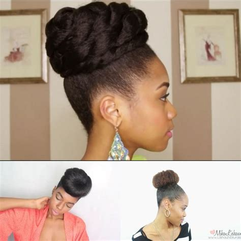 faux bun hairstyles 4 simple faux bun styles for any natural hair length
