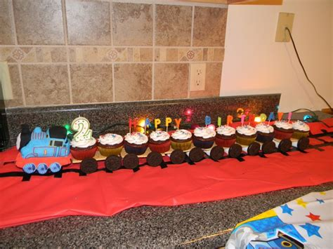 thomas  train cupcake train track    electrical tape  graham cracker